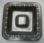 1056 Large Square Castellated Ashtray 10.4.69