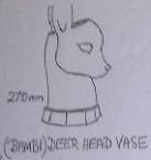 2026 deer head vase [fawn] 1964