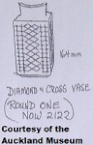 2122 round diamond and chain crosses vase 8.12.77