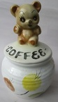 forestware coffee jar with bear top